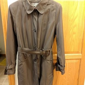 Anne Klein Single Breasted Belted Trench Coat